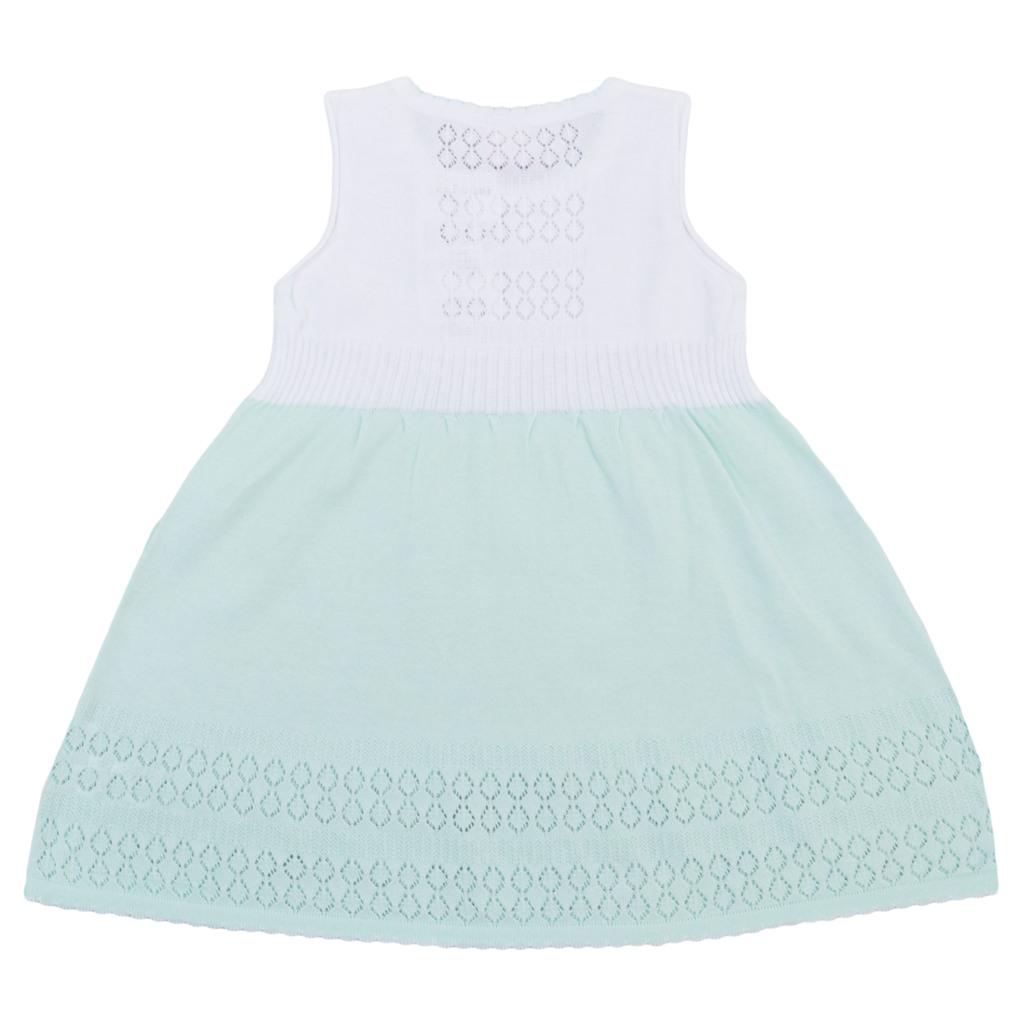 Комплект рокля и жилетка с нежни плетеници резеда