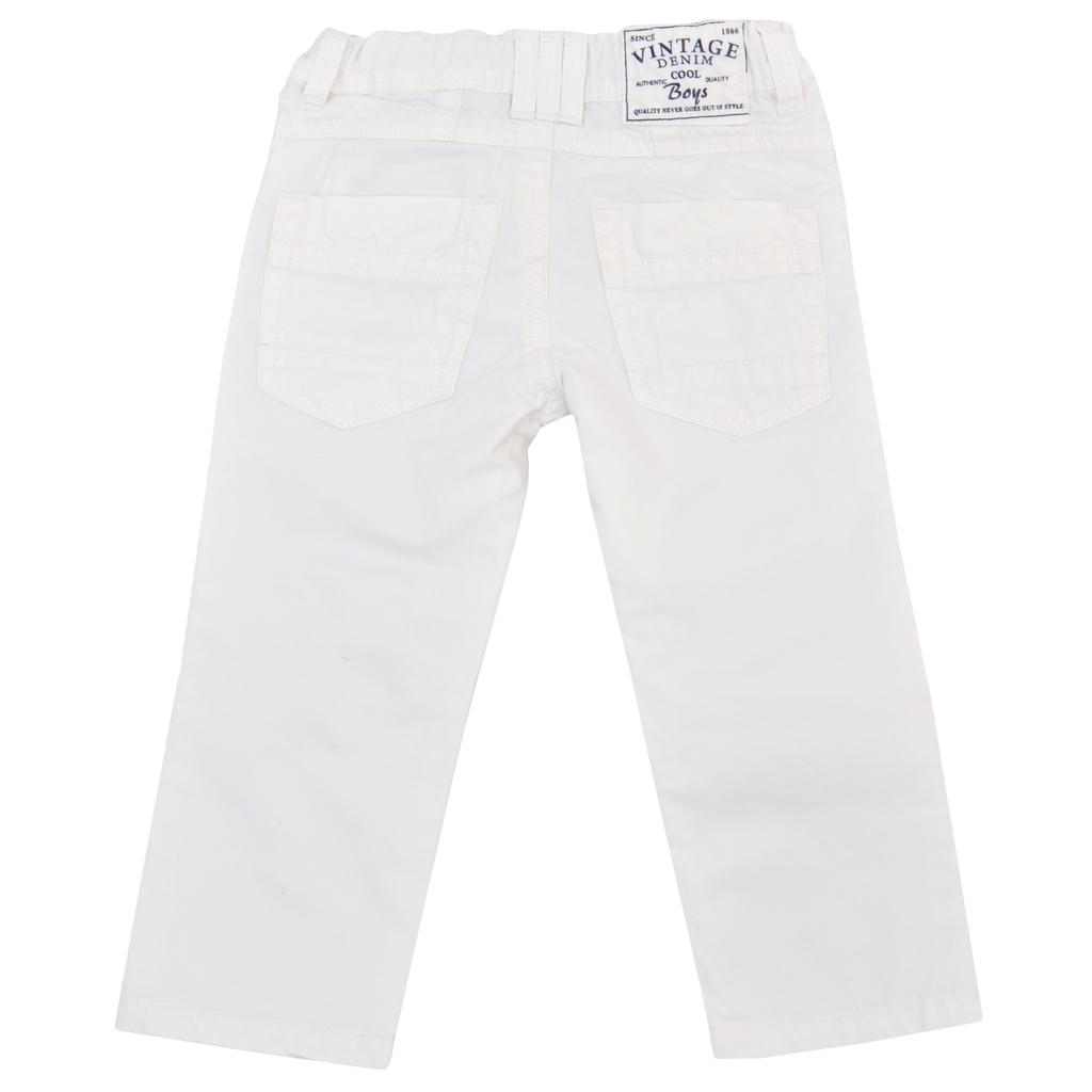 Детски прав панталон изчистен бял