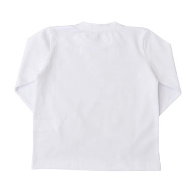 Детска блуза с мотор бяла