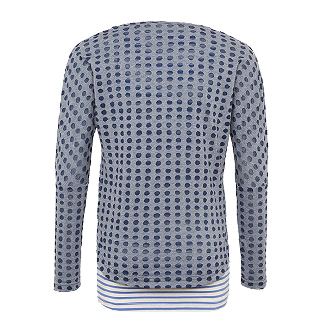 Комплект потник и блуза дълъг ръкав от Tom Tailor син
