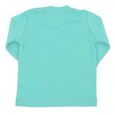 Бебешка пролета блуза с щампа зелена