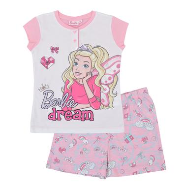 Весела лятна пижама с Barbie в розово