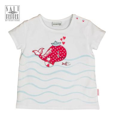 Тениска в трапец с бродиран кит от Salt & Pepper бяла