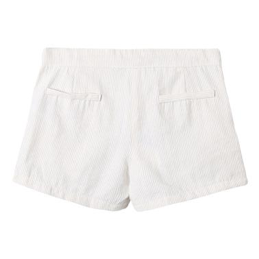 Текстилни къси панталонки на райета от Newness в екрю