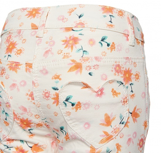 Детски панталон на цветя Tom Tailor бял