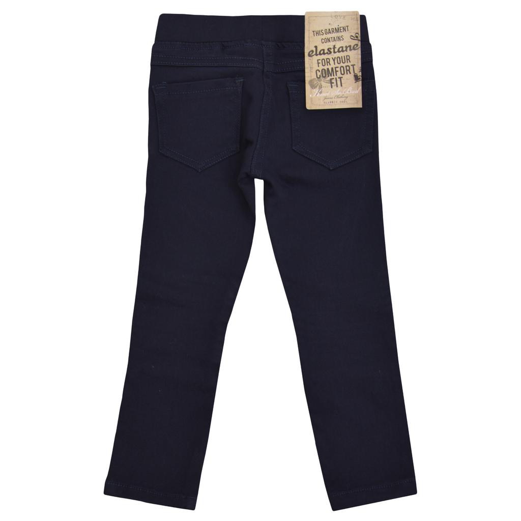 Панталон-клин с нервюри тъмно син