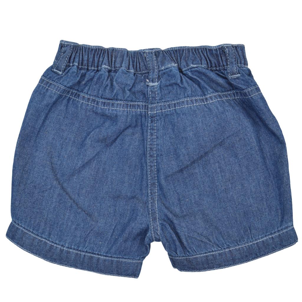 Бебешки къси дънкови панталони тип балон сини