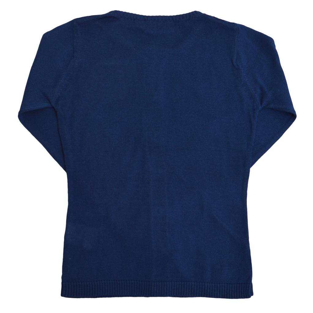 Фина елегантна жилетка с дантела тъмно синя