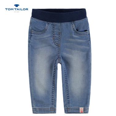 Дънки с джобче-сърце от Tom Tailor сини
