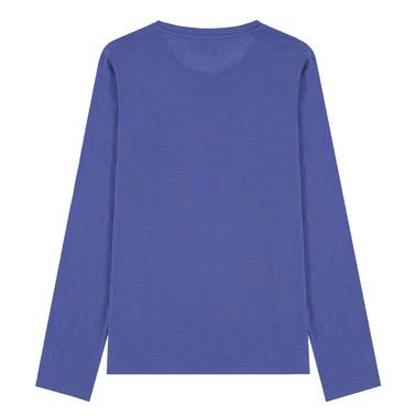 Семпла блуза Tom Tailor с брокатен надпис лилава