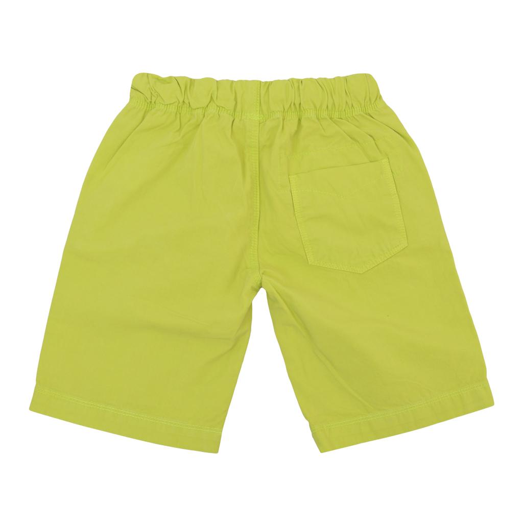Бермуди от текстил с джобове и връзка зелени