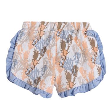 Панталонки с къдрички и корали от Newness в син цвят