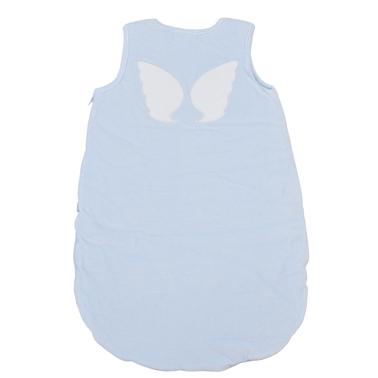 Топло чувалче за сън с ангелски крилца светло синьо