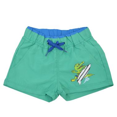 Бермуди крокодилче с бандаж и джобчета зелени