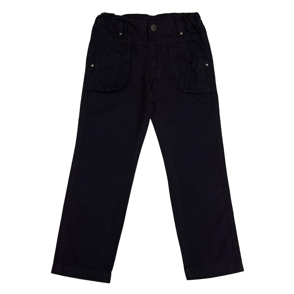 Панталон с цветни шевове на джобовете тъмно син