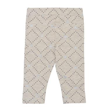 Клин-панталон с брокатени сърца и точки сив меланж