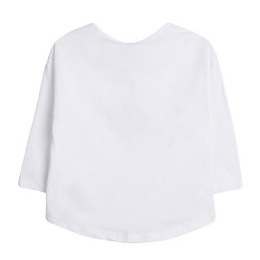 """Блуза дълъг ръкав с пъстра щампа """"Adventurer"""" от Newness бяла"""
