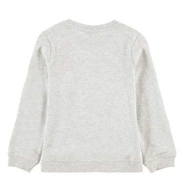 Спортна блуза Tom Tailor с имотокон от пайети сив меланж