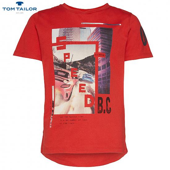 Детска спортна блуза TOM TAILOR червена