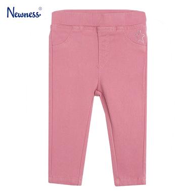 Панталон-клин с камъчета от Newness розов