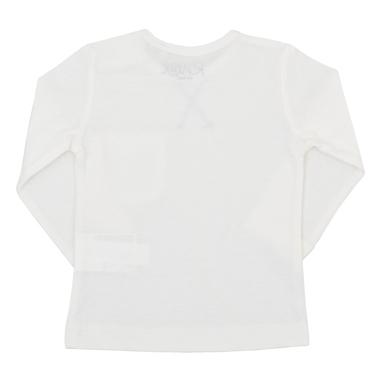 Блузка дълъг ръкав с джобче и щампа на коте екрю