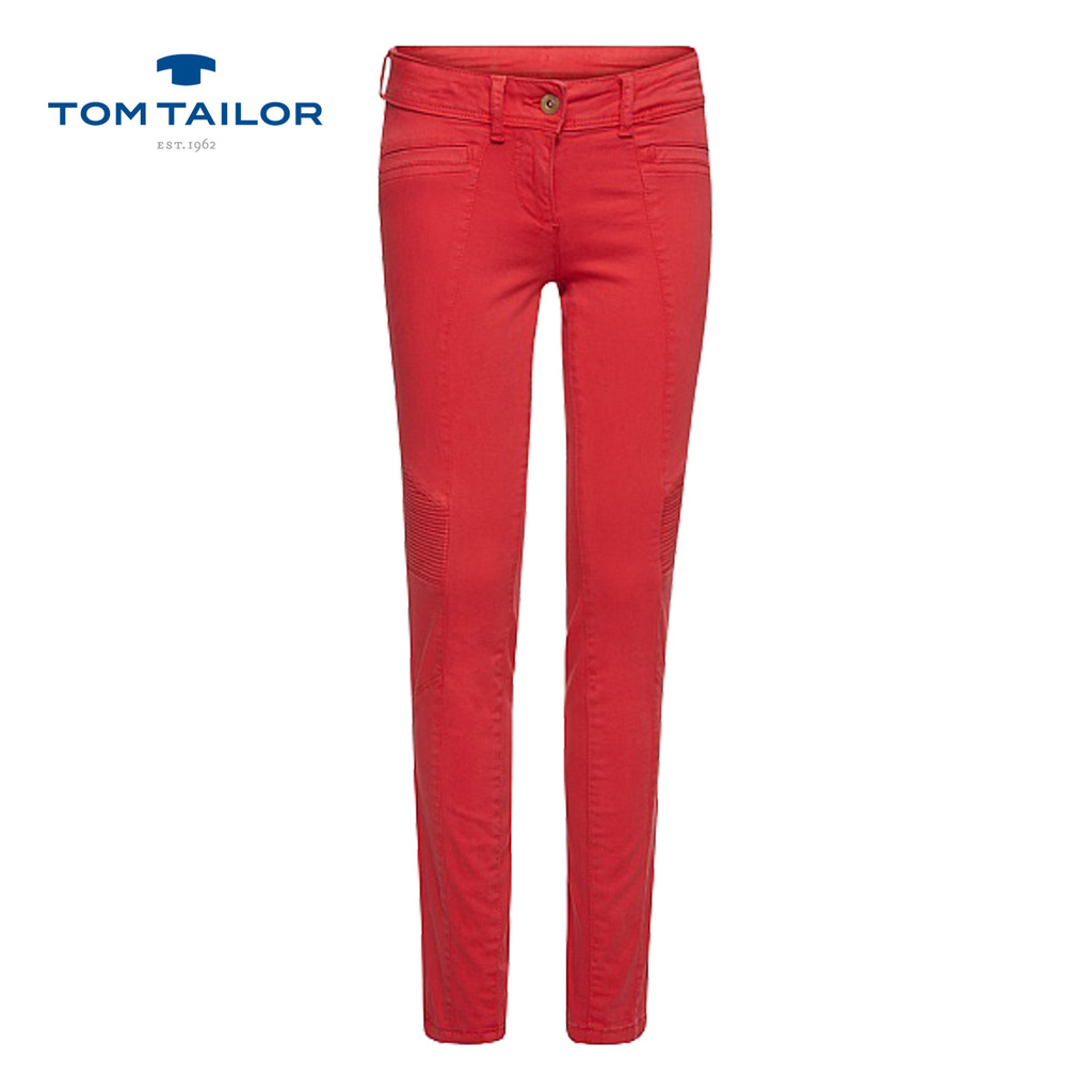 Цветен дънков панталон TOM TAILOR коралов