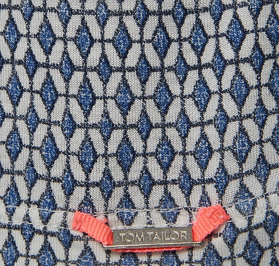 Спортна детска рокля на ромбчета в синьо Tom Tailor