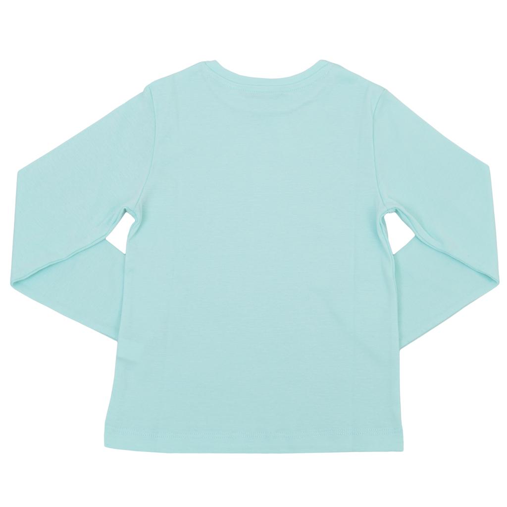 Детска рипсена блуза с лого ТОЧИЦИ зелена