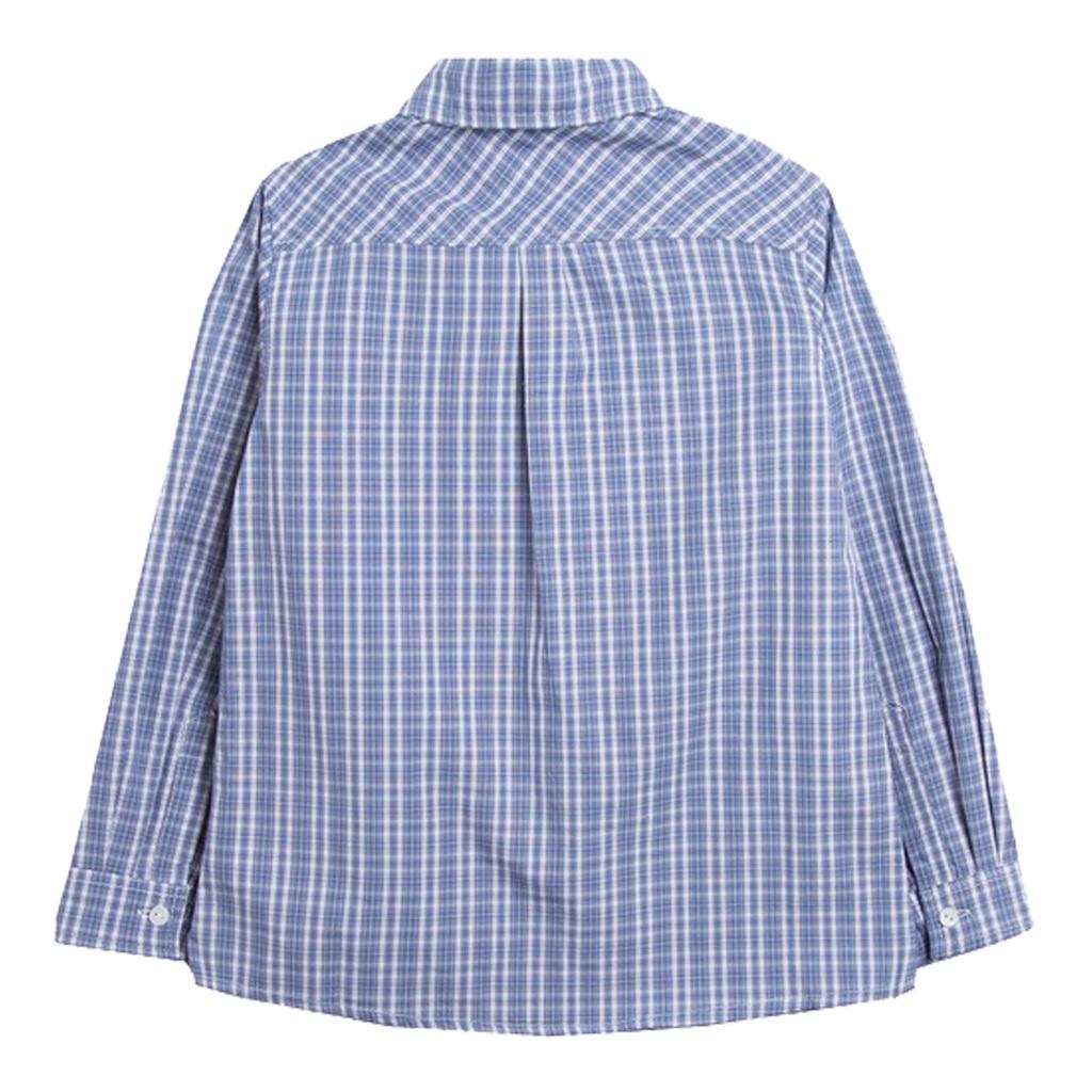 Памучка риза на карета с джоб от Newness синя
