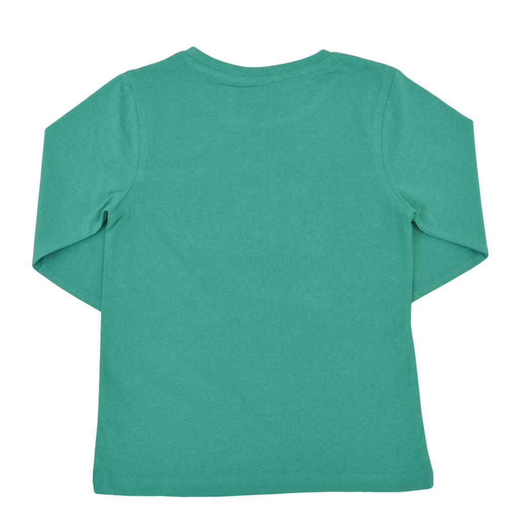 Блуза с бродиран трактор от ''Salt and pepper'' зелена