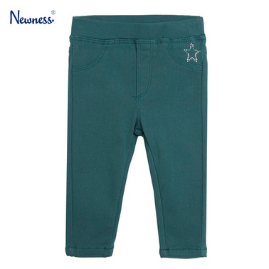 Панталон-клин с камъчета от Newness зелен