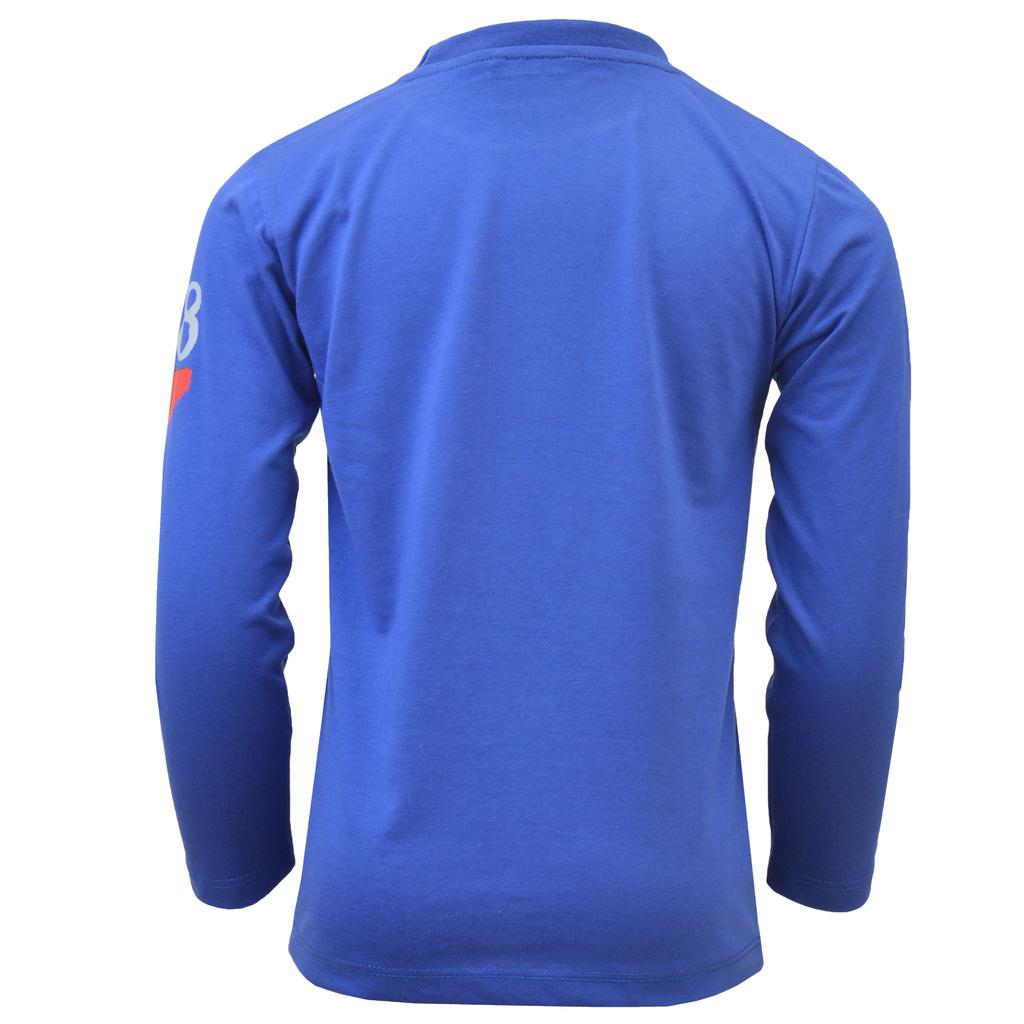 Блуза дълъг ръкав с тигър спортист синя