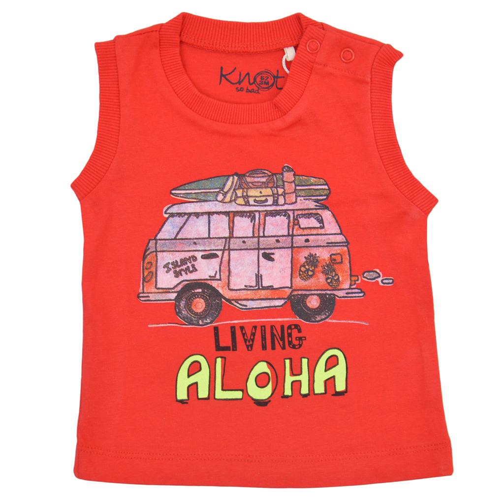"""Потник с миниван """"Living Aloha"""" червен"""