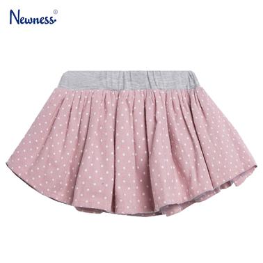 Кокетна бебешка пола на точки с тюл от Newness розова