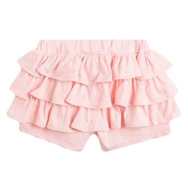 Трикотажни къси панталонки с волани от Newness в розово