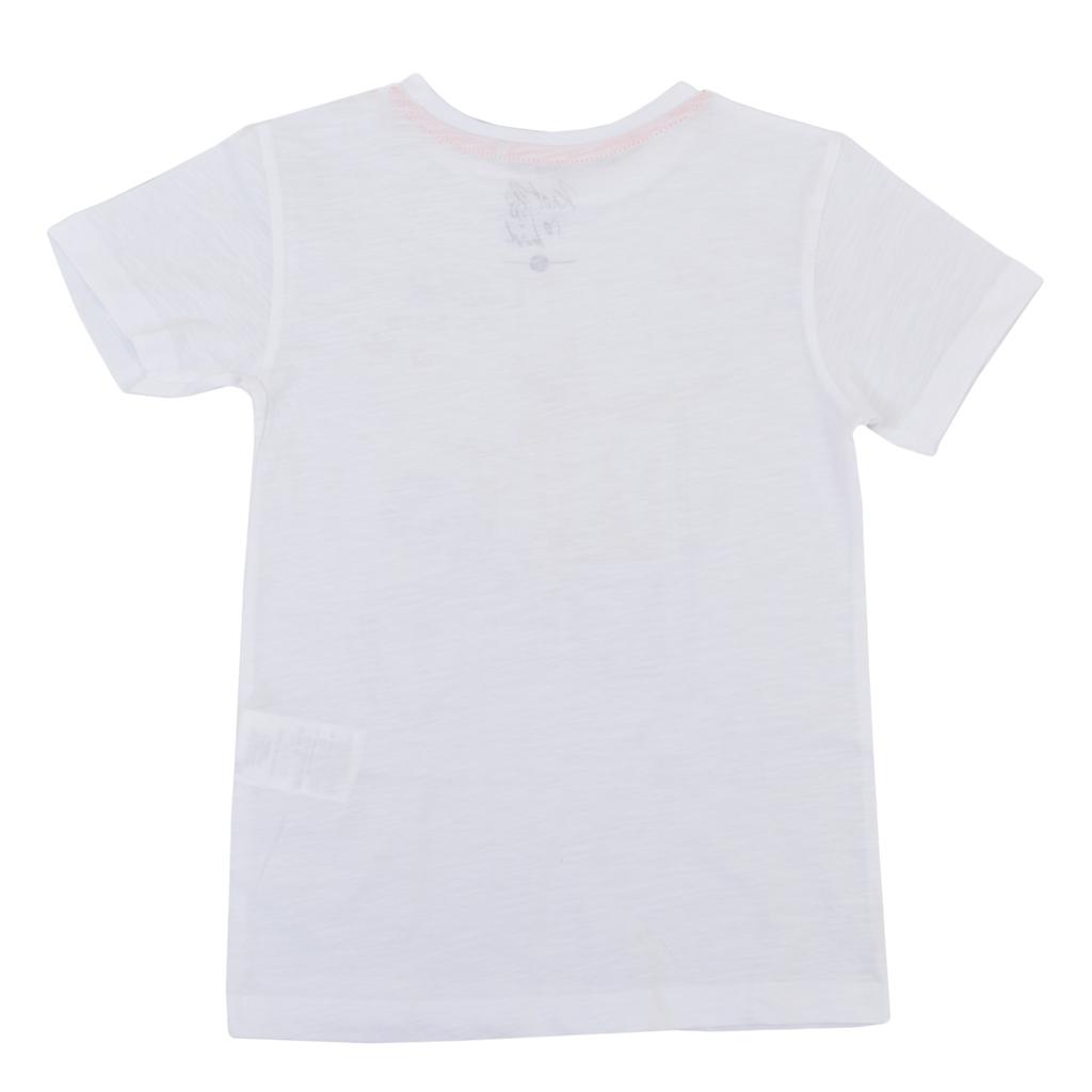 Тениска с тигър барабанист в бяло