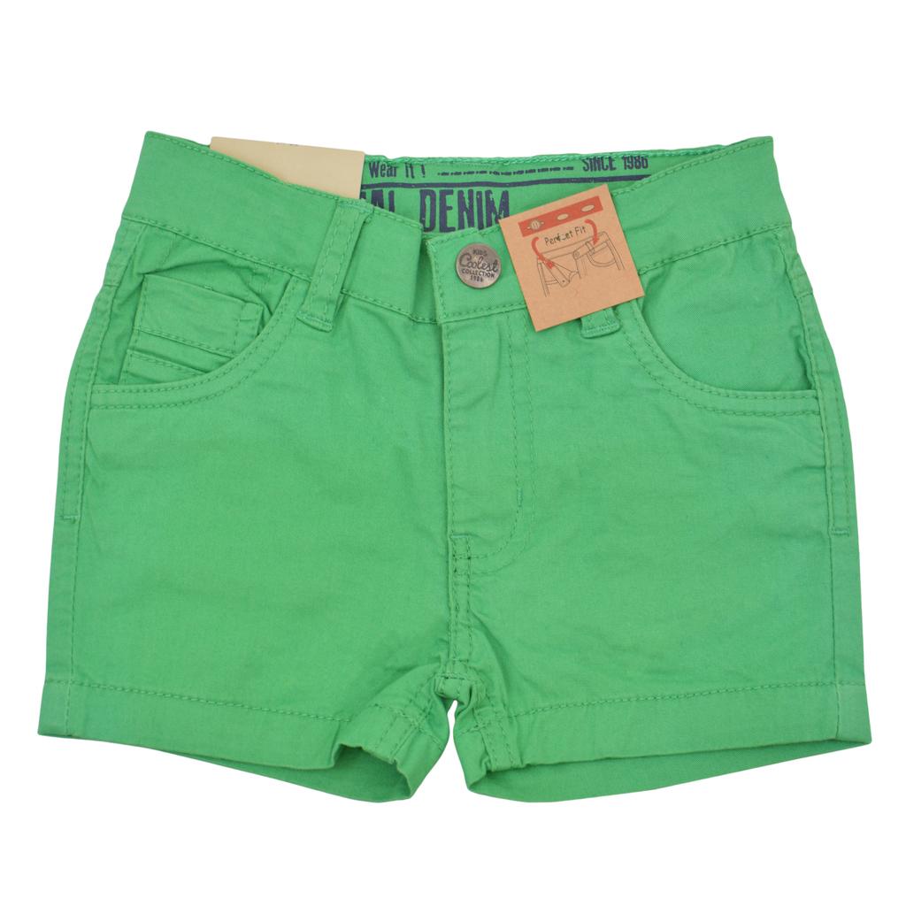 Къси панталонки от текстил с джобчета зелени