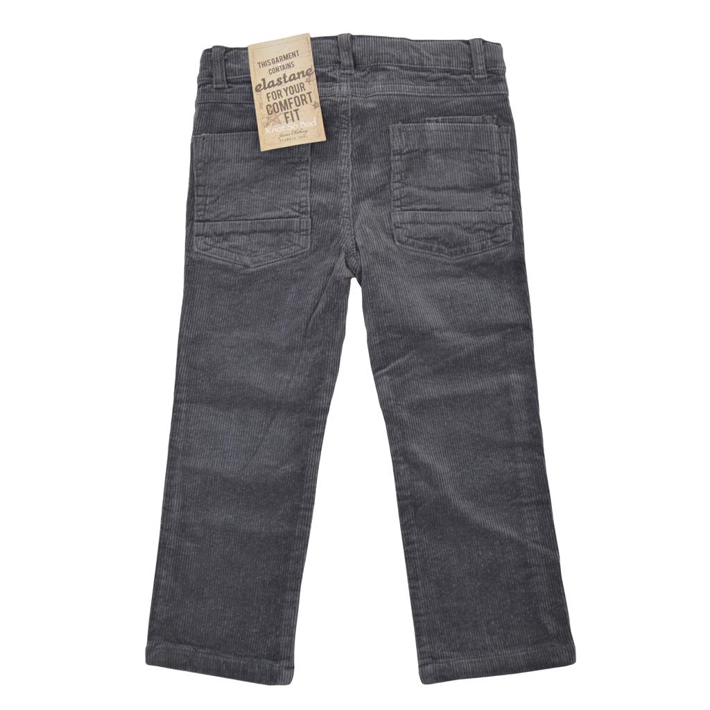 Кадифен панталон в класическа кройка сив