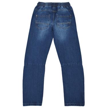 Спортен панталон с ластик и джобове деним