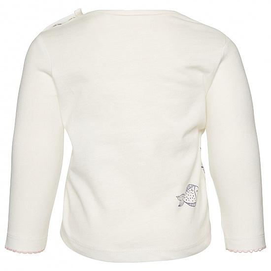 Бебешка пролетна блуза с рибки Tom Tailor бяла