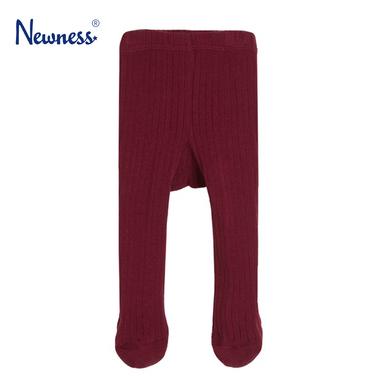 Рипсен чорапогащник Newness със стъпало бордо