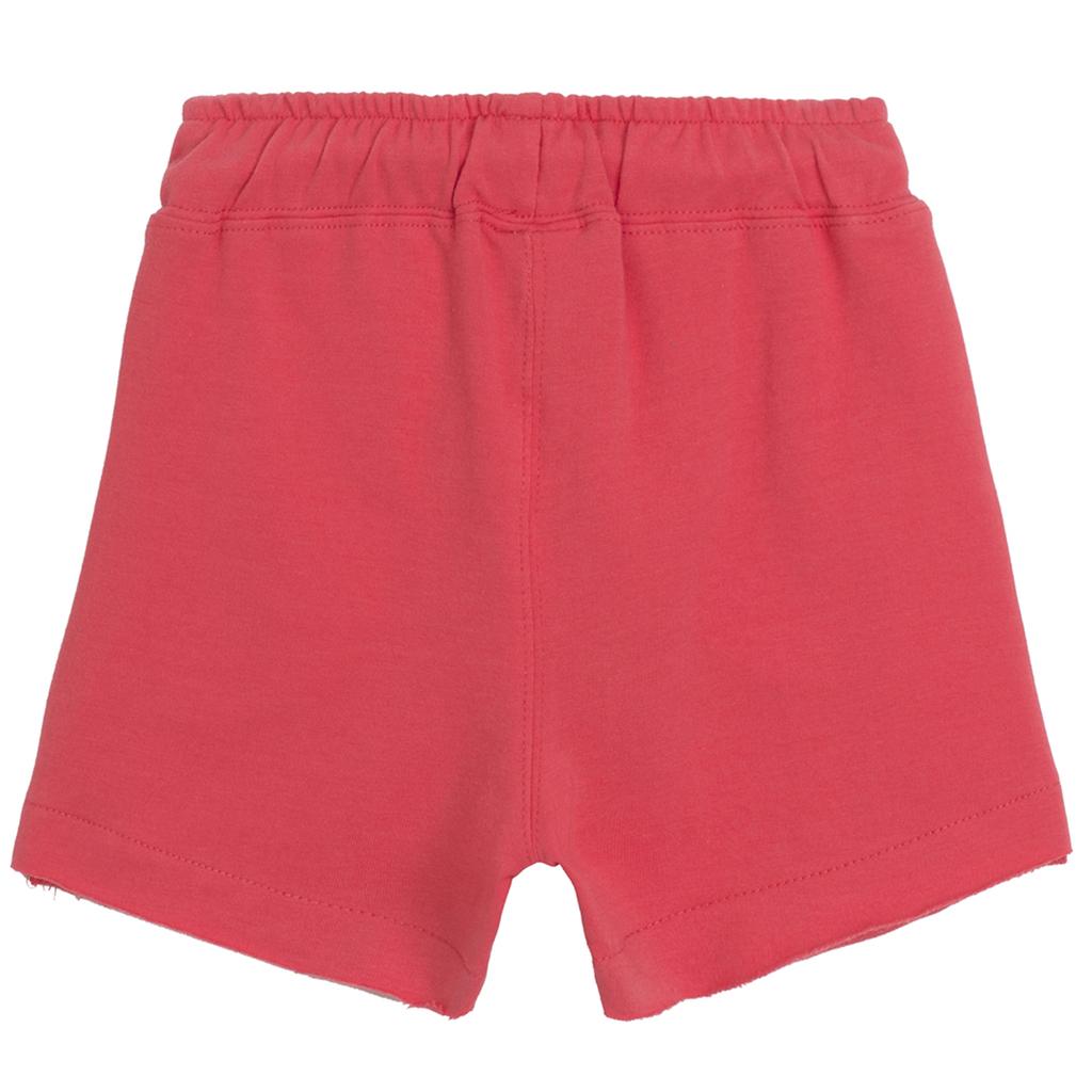 Къси панталонки трико Newness с бляскава звезда червени
