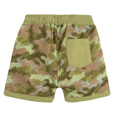 Широки камуфлажни панталонки от Newness в зелено