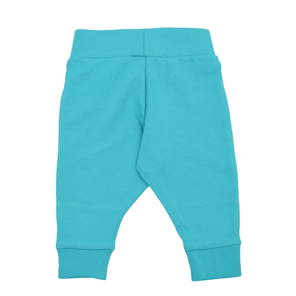 Долнище с платки и цветни джобове син петрол