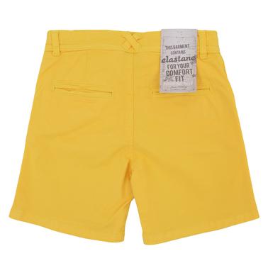 Текстилни бермуди със състаряващ ефект в жълто