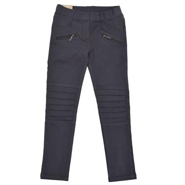 Клин-панталон с нервюри и ципове тъмно сив