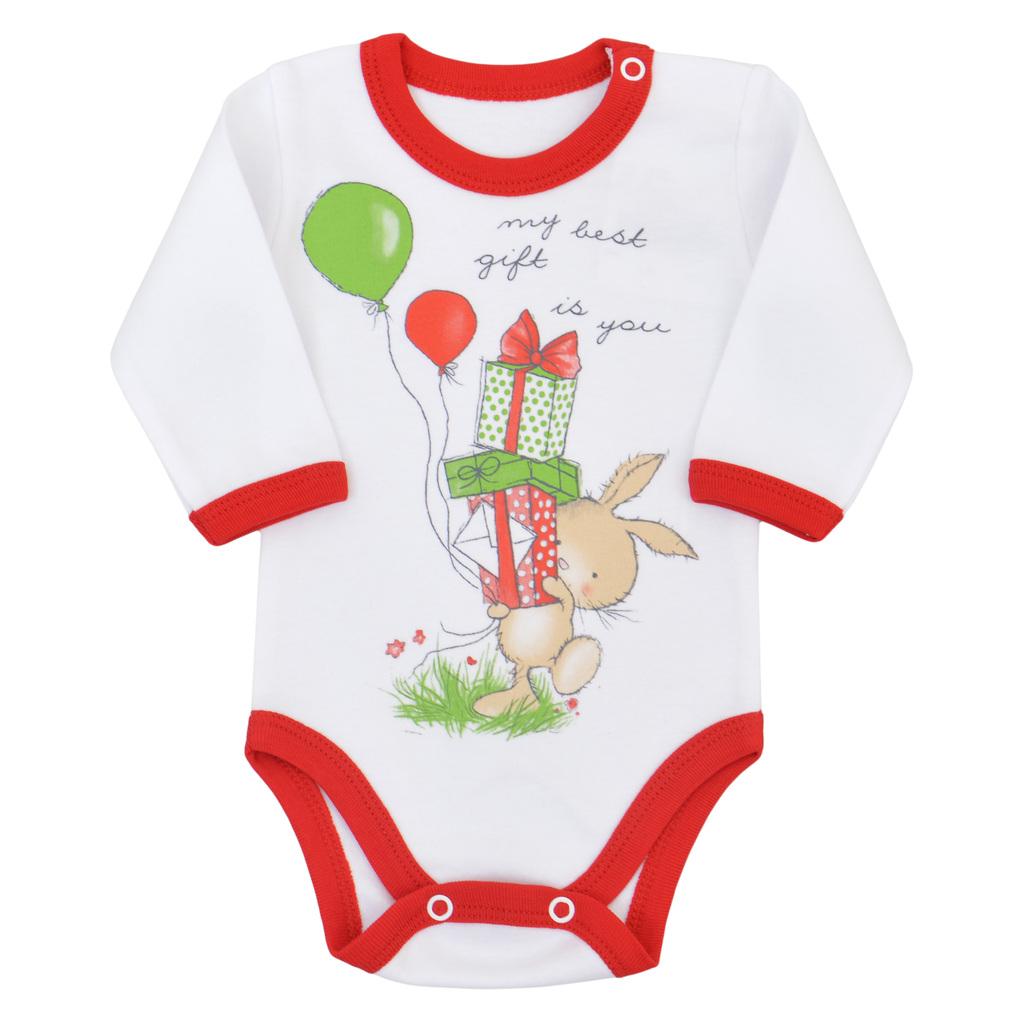 Бебешко коледно боди червено
