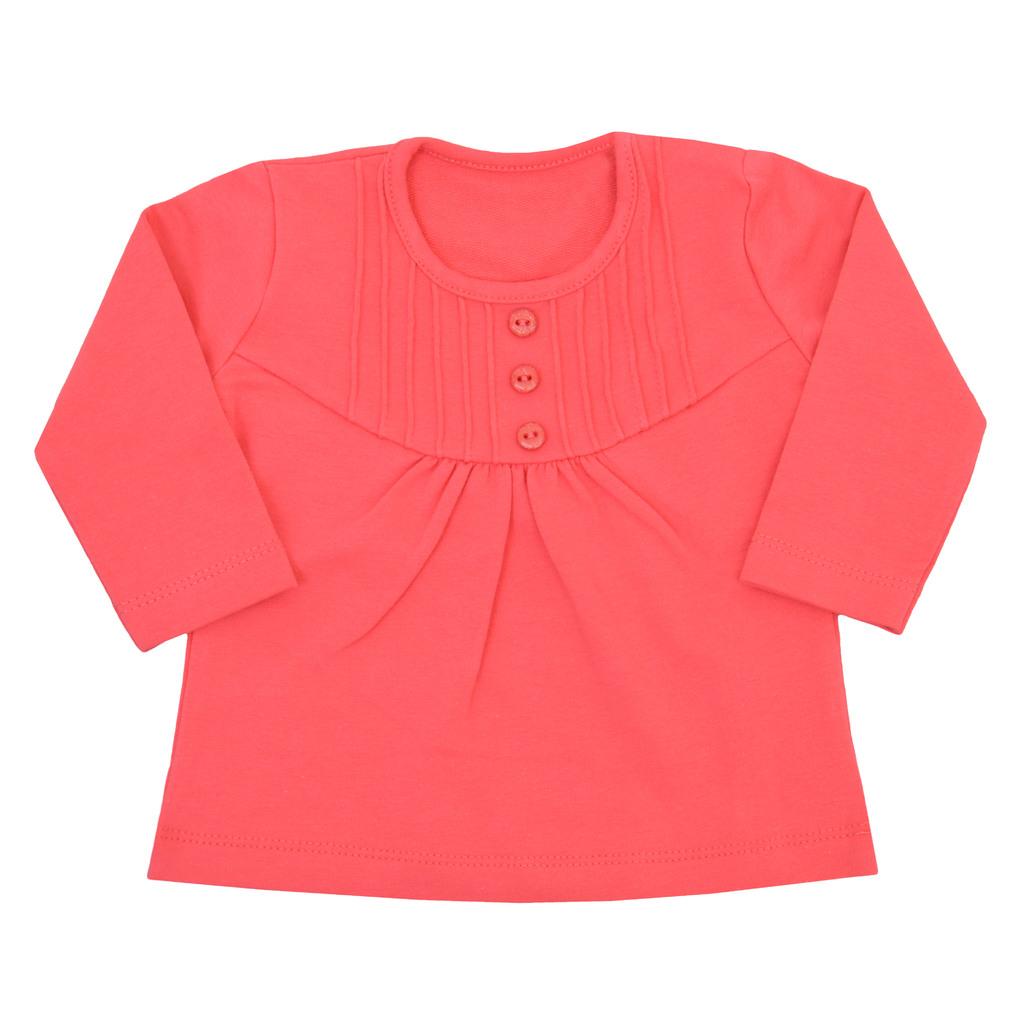 Блуза дълъг ръкав с нервюри и копчета диня