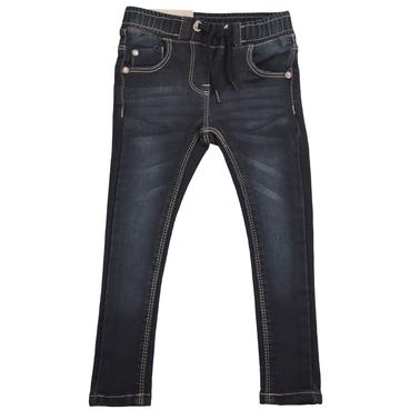 Дънков клин панталон слим модел черен
