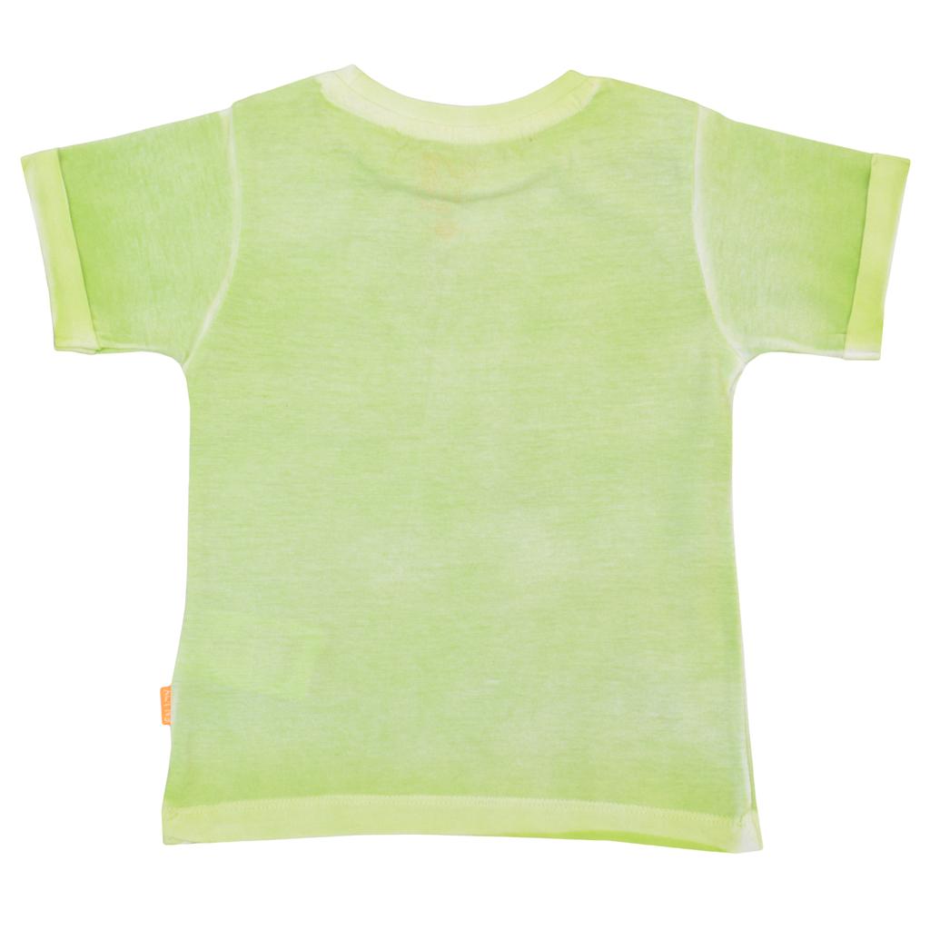 Детска лятна блуза с щампа със скейт във винтидж стил зелена
